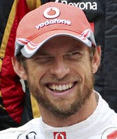 Button with his facial hair in happier times, yesterday