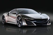 A model of the new NSX, yesterday