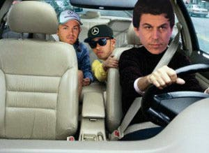 Wolff driving back from Spa, yesterday