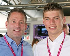 Jos 'The Boss' Verstappen and Max 'The Nickname To Be Decided' Verstappen, yesterday