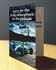 One of the new Mercedes F1 cards, yesterday