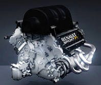 A Renault F1 engine, yesterday