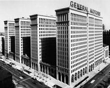 GM's Detroit headquarters, yesterday