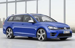 The Golf R estate, yesterday