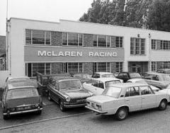 The McLaren factory, yesterday
