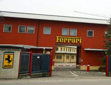 The Ferrari factory, yesterday