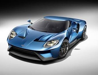The new Ford GT, yesterday