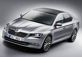 The new Skoda Superber, yesterday