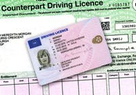An driving licence, yesterday