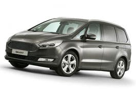 The new Ford Galaxy, car number 129, yesterday