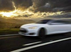 An Tesla Model S, yesterday