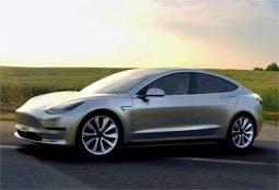 The Tesla Model 3, yesterday