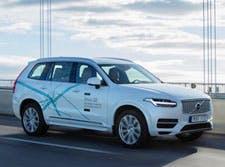 A autonomous Volvo, yesterday