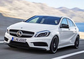 The Mercedes A45 AMG Nico Rosberg Edition, yesterday