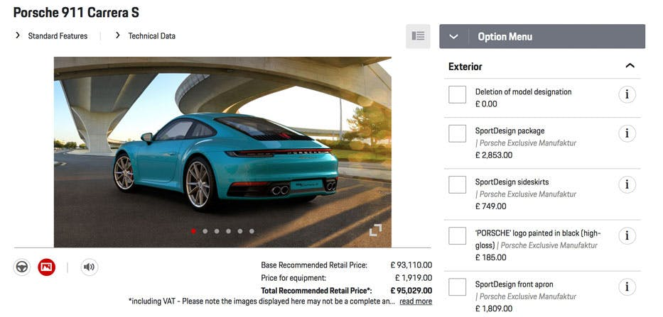How To Configure Your New Porsche 911 Sniff Petrol